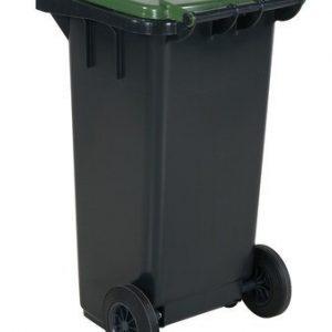 Avfallskärl 120 L, grönt lock