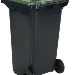 Avfallskärl 240 L, grönt lock