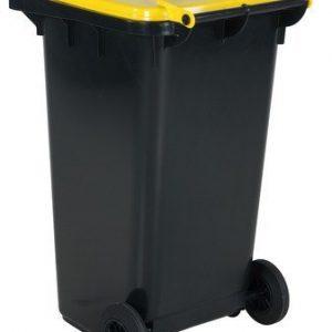 Avfallskärl 240 L, gult lock
